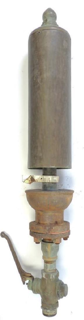 Large Antique Single Valve Lunkenheimer Brass Steam - 4