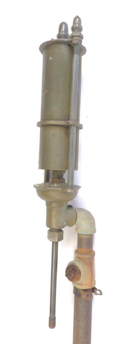Large Antique Single Valve Brass Steam Whistle
