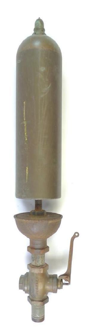 Large Antique Single Valve Lunkenheimer Brass Steam
