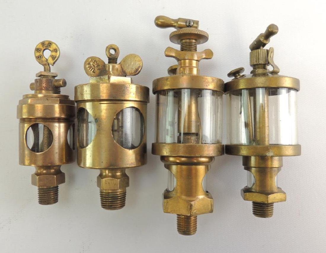 Group of 4 Antique Hit and Miss/Steam Engine Brass