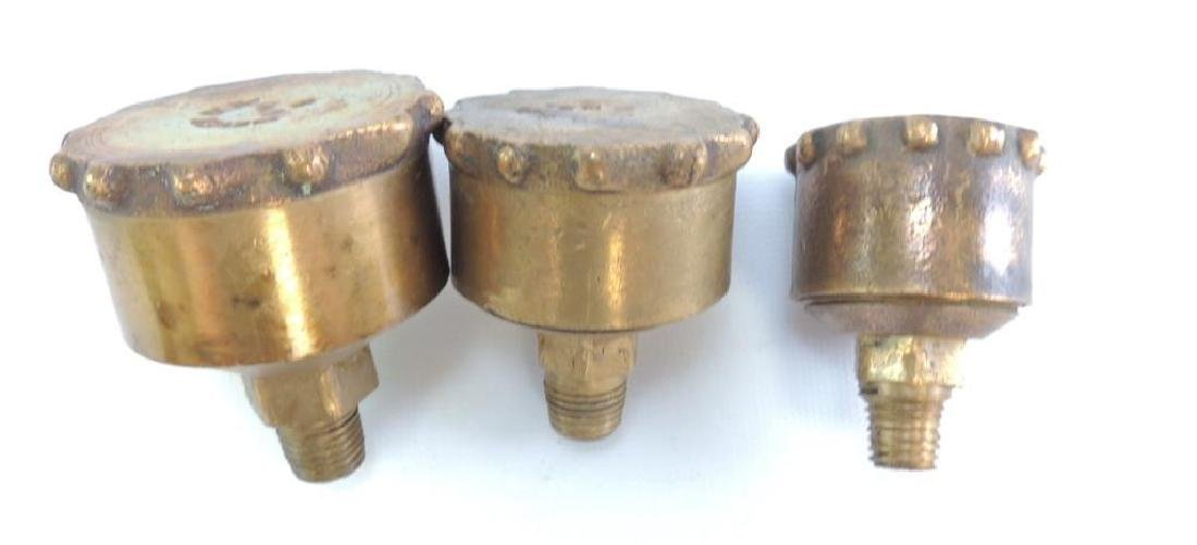 Group of 3 Antique Hit and Miss/Steam Engine Brass