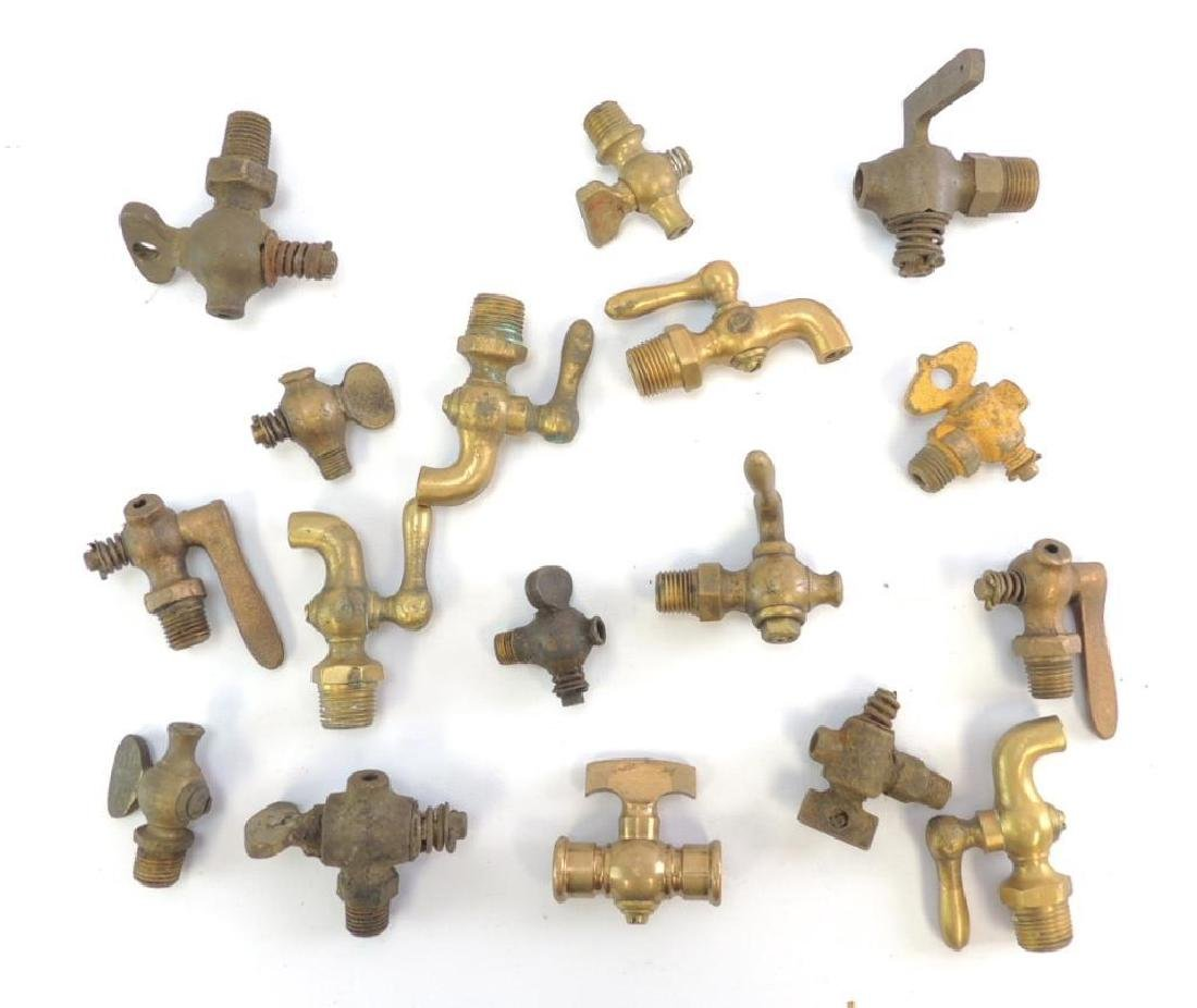 Group of Antique Brass Sprockets and Faucets