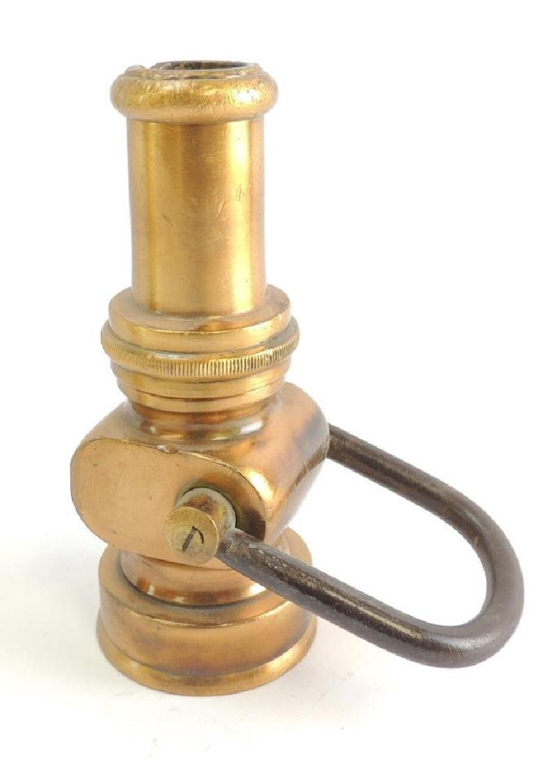 Antique Solid Brass Fire Hose Nozzle
