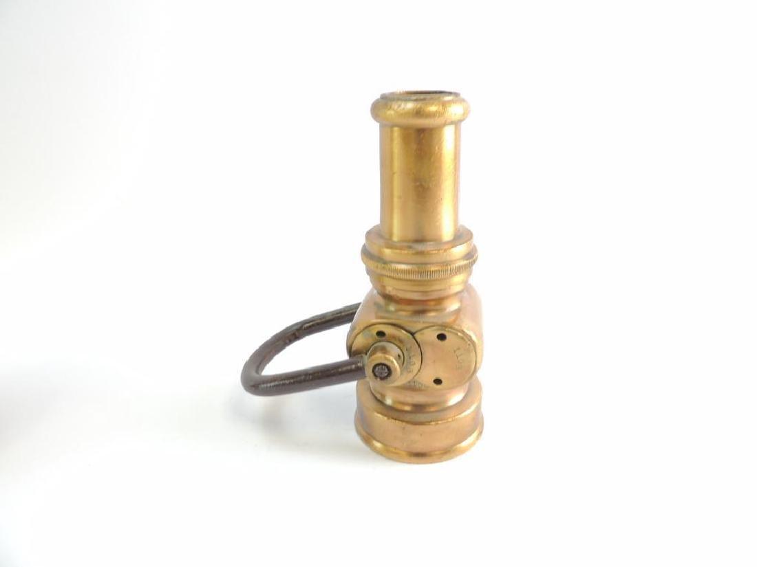 Antique Solid Brass Fire Hose Nozzle - 2