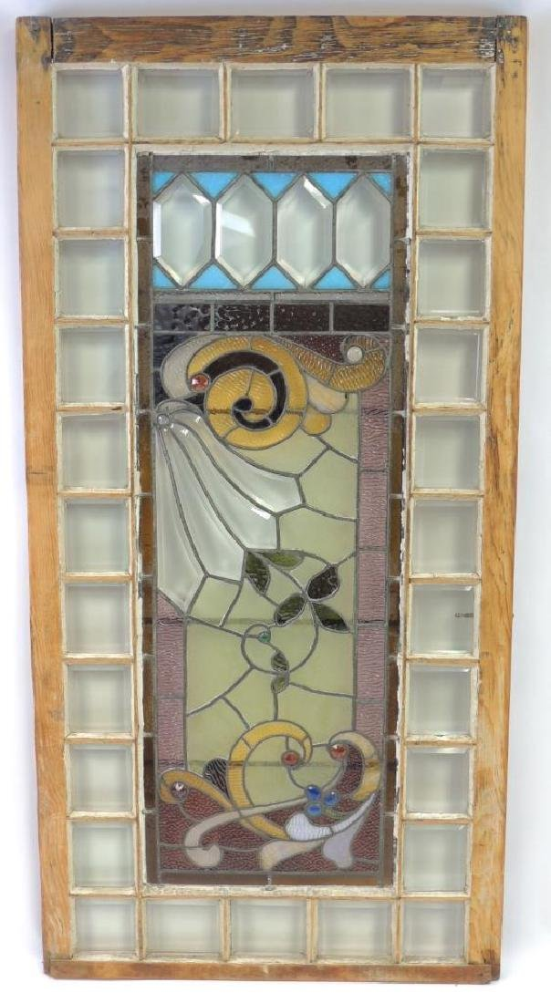 Antique Leaded and Stained Glass Window