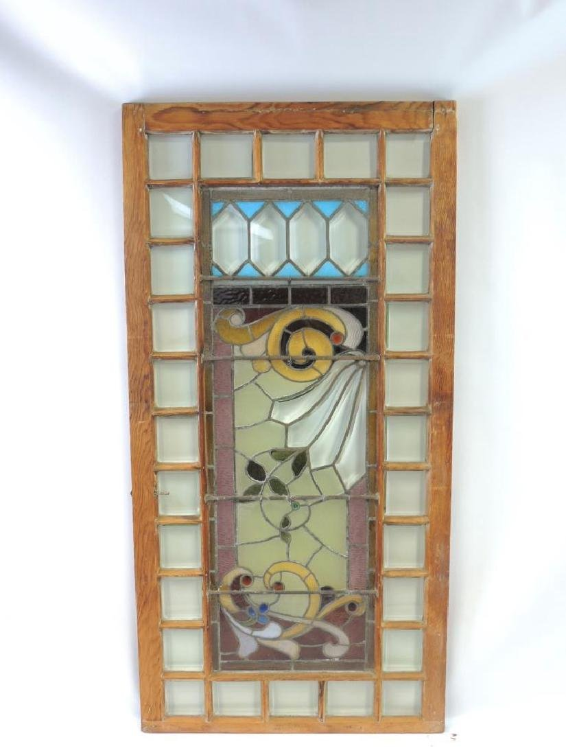Antique Leaded and Stained Glass Window - 3