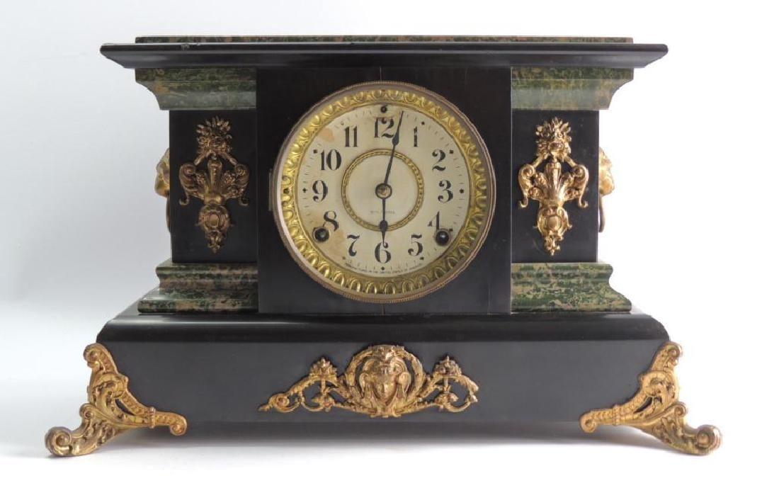 Antique Seth Thomas Adamantine Mantle Clock (#102)