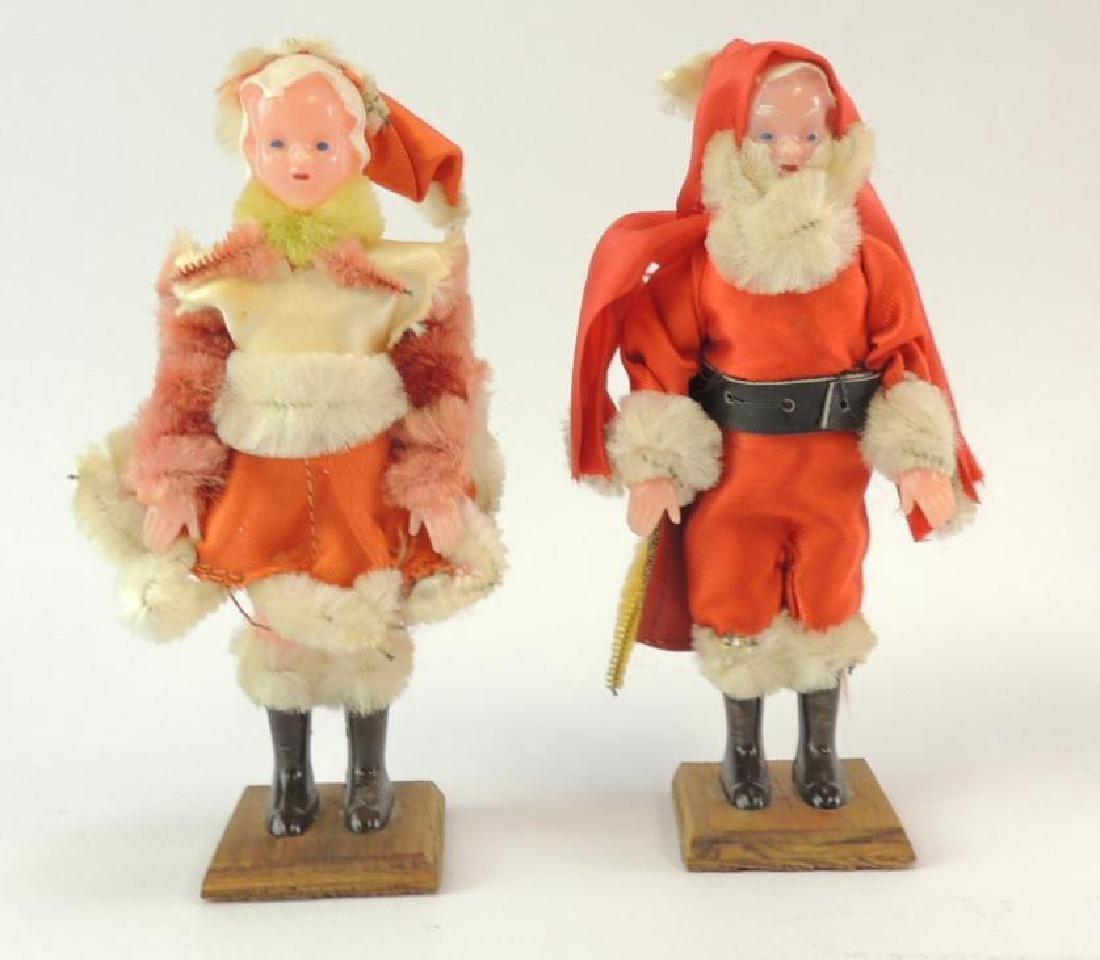 Vintage Mr. and Mrs. Claus Handmade Christmas Figurines