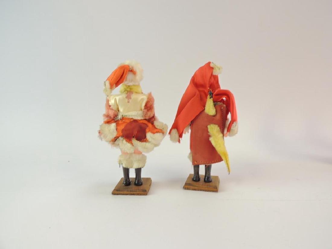 Vintage Mr. and Mrs. Claus Handmade Christmas Figurines - 2
