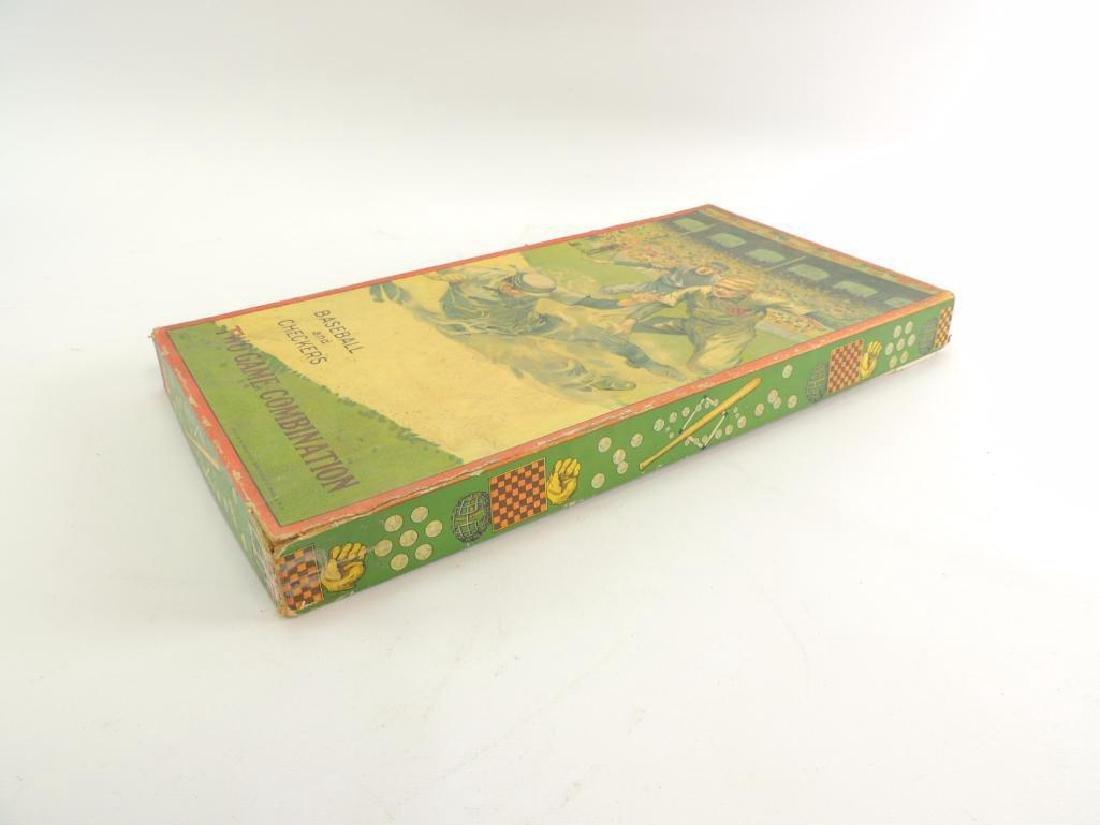 Antique Milton Bradley Co. Baseball and Checkers Board - 2