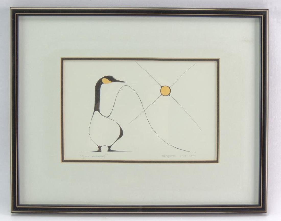 "Signed ""Good Morning"" By Benjamin Chee Chee (1944-1977)"