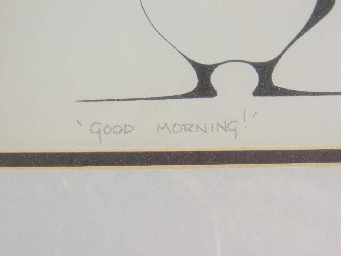 "Signed ""Good Morning"" By Benjamin Chee Chee (1944-1977) - 2"