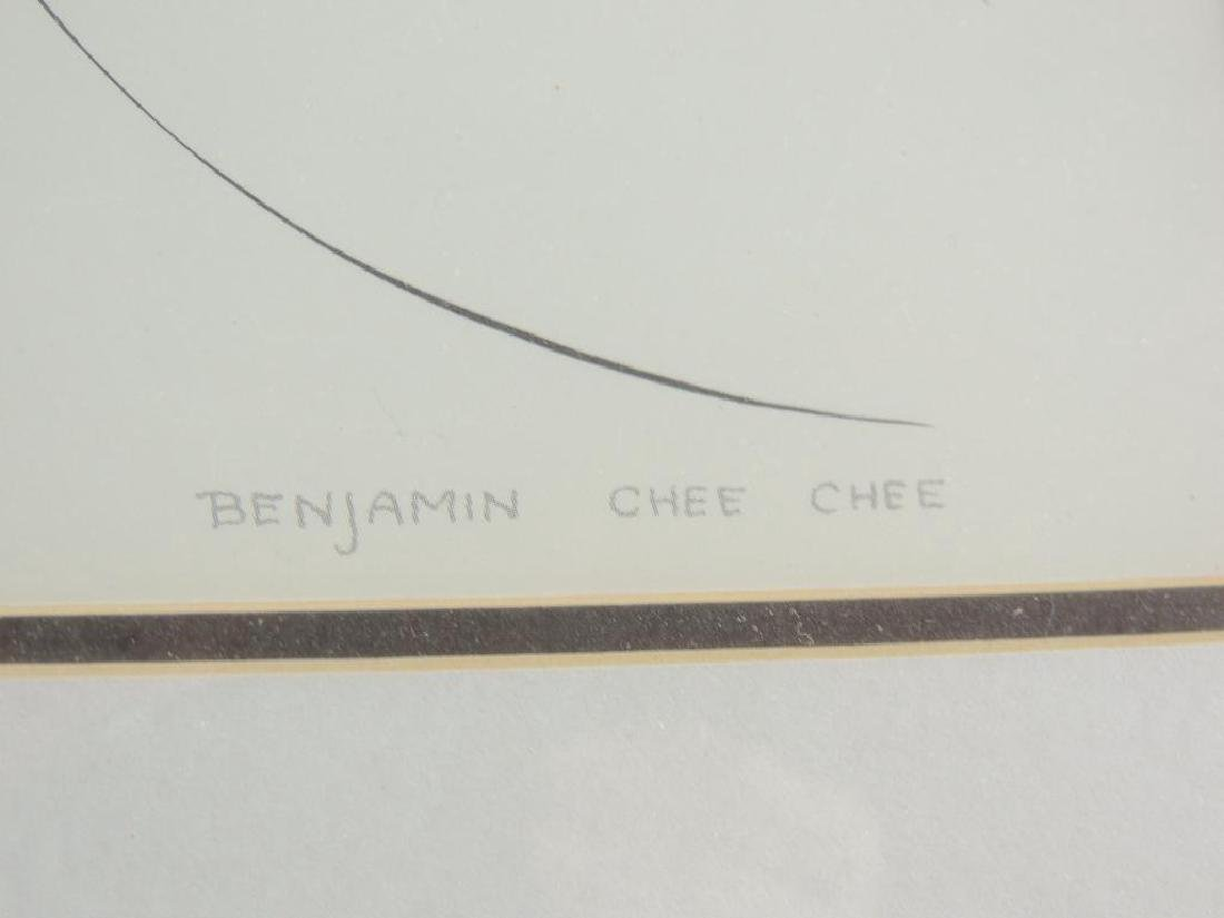 "Signed ""Good Morning"" By Benjamin Chee Chee (1944-1977) - 3"