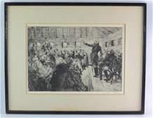 "Albert Sterner( 1863-1946) Signed Etching - ""Washington"