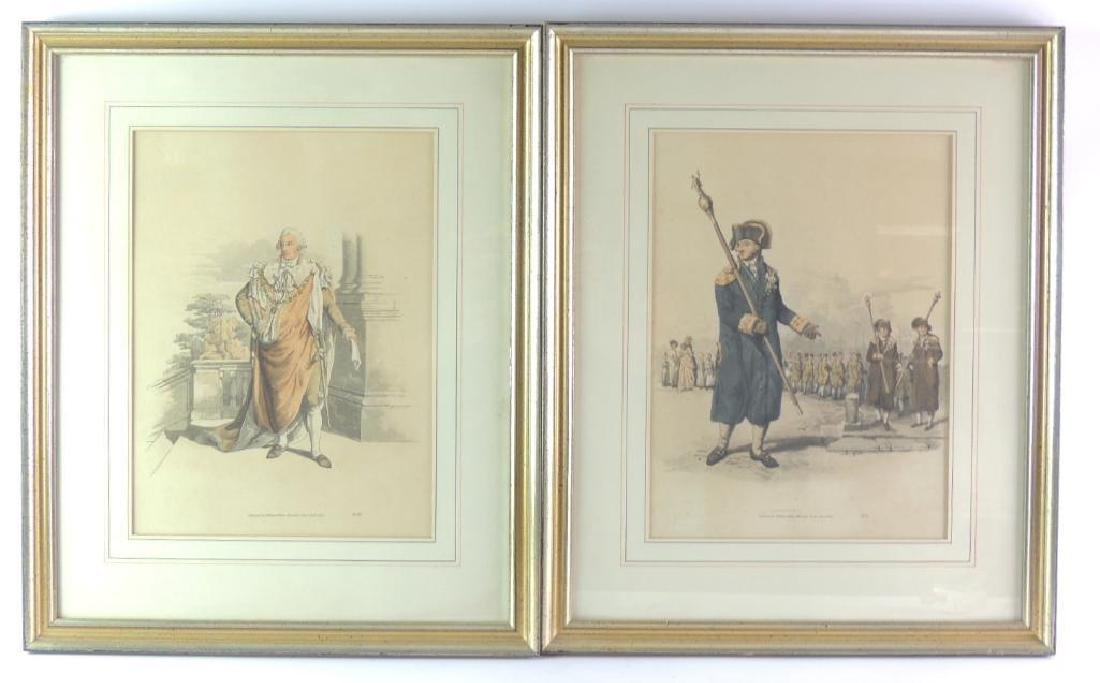 Group of 2 Handcolored Lithographs published by William