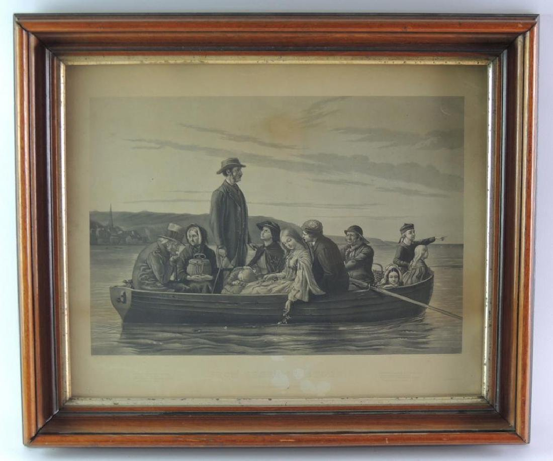 "F.T. Stuart Engraving ""From Shore To Shore"" w/ Walnut"