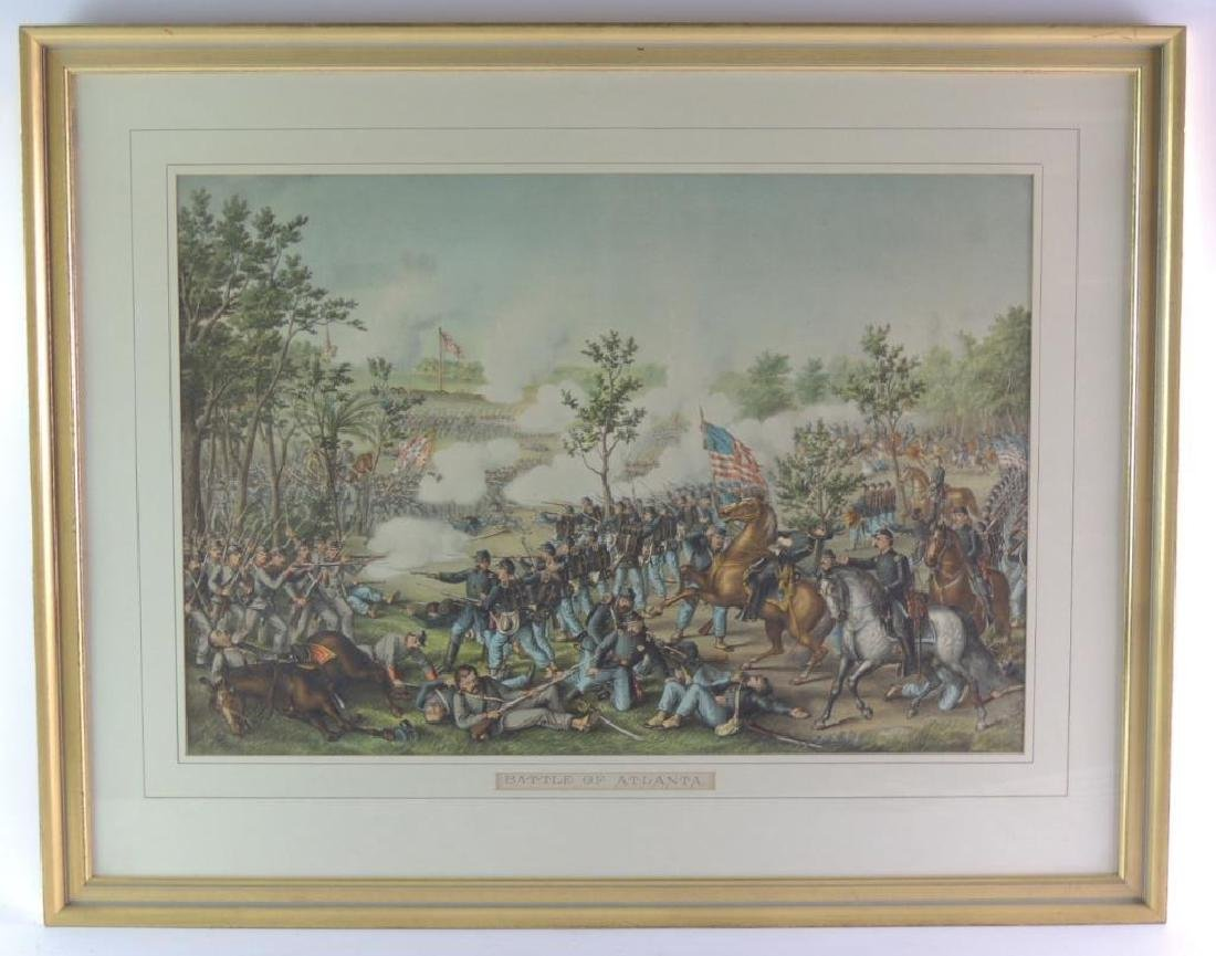 """Antique """"Battle of Atlanta"""" Framed Print"""