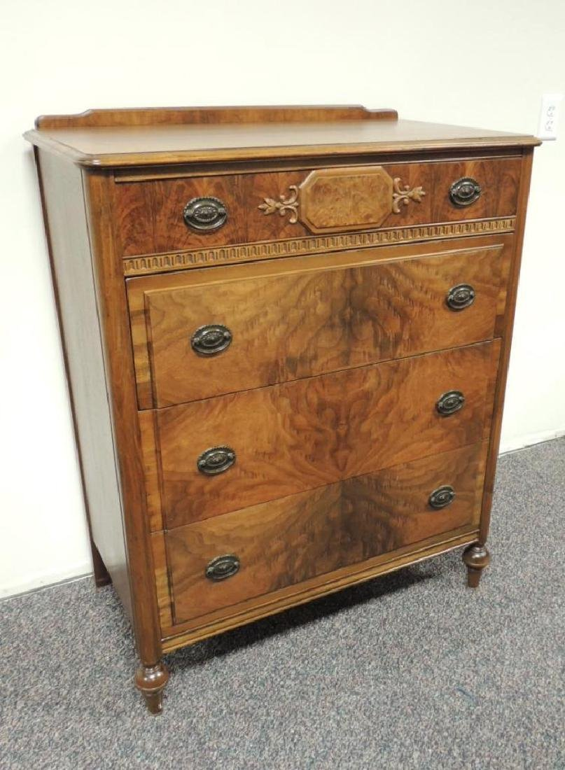 Vintage Landstrom Burled Walnut Dresser
