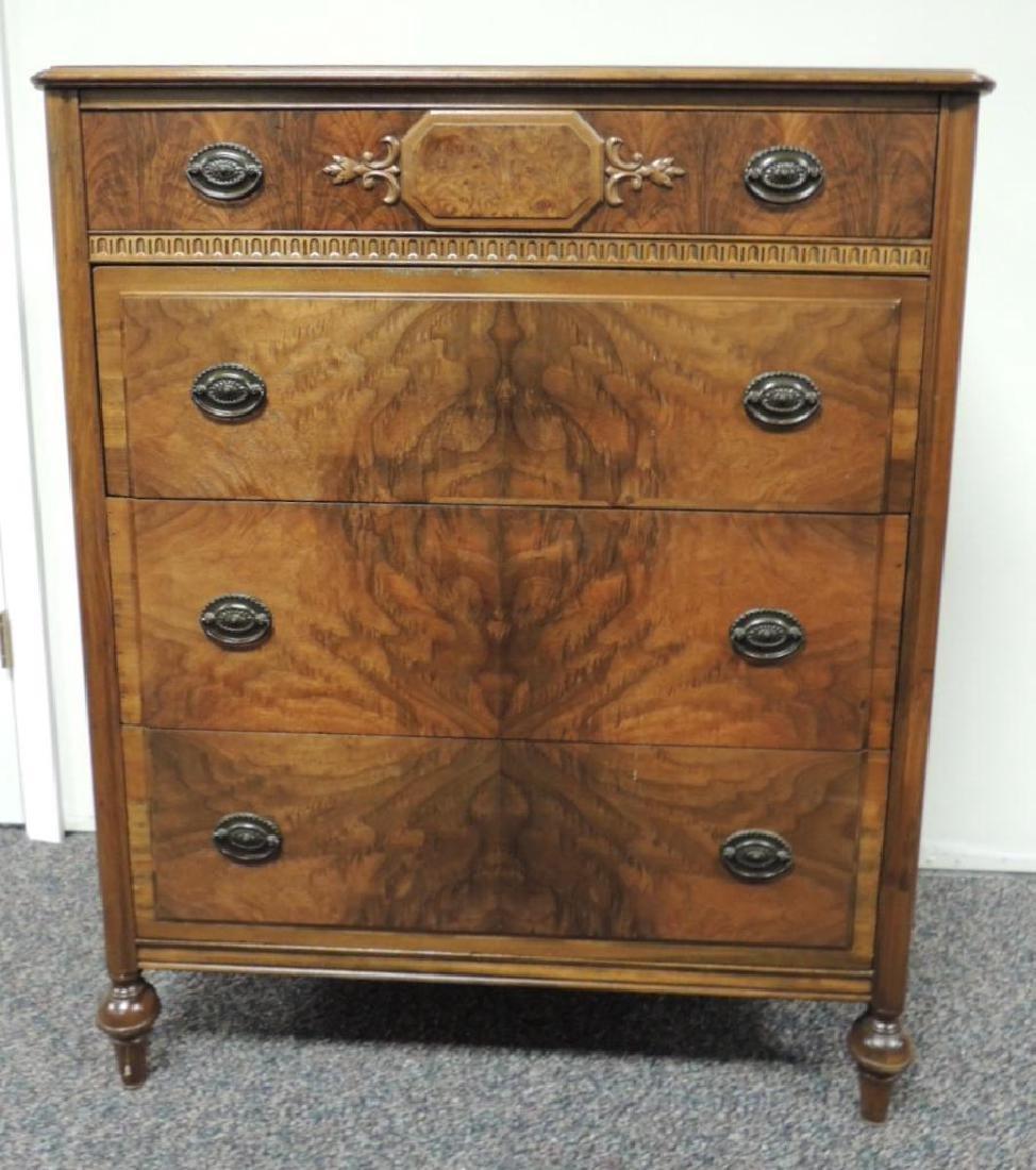 Vintage Landstrom Burled Walnut Dresser - 2