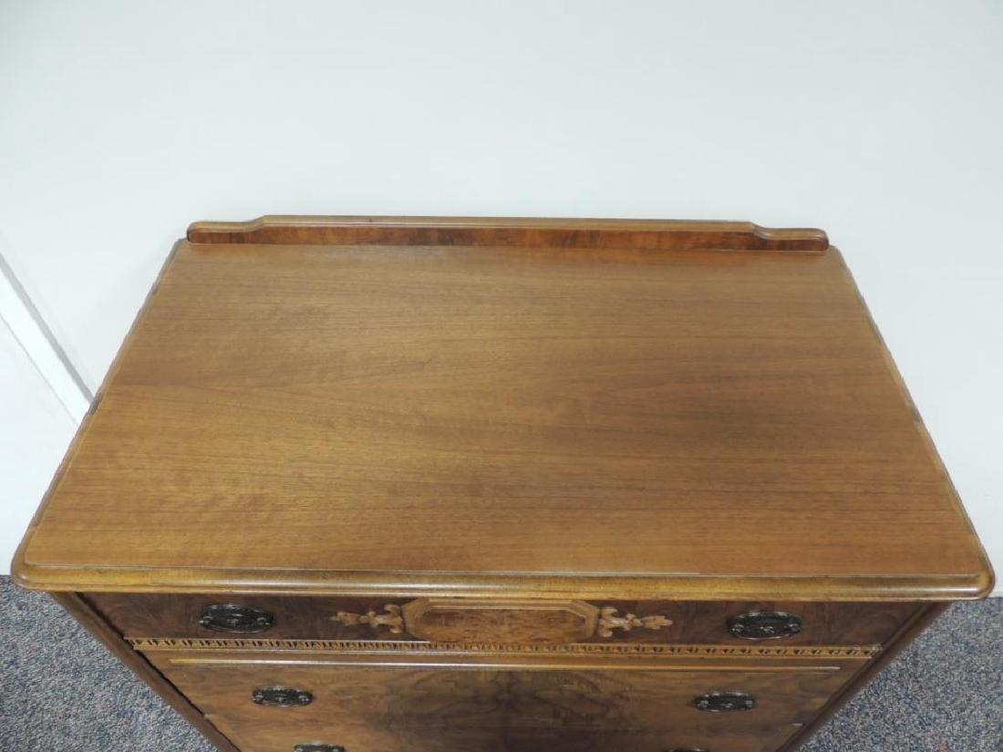 Vintage Landstrom Burled Walnut Dresser - 3