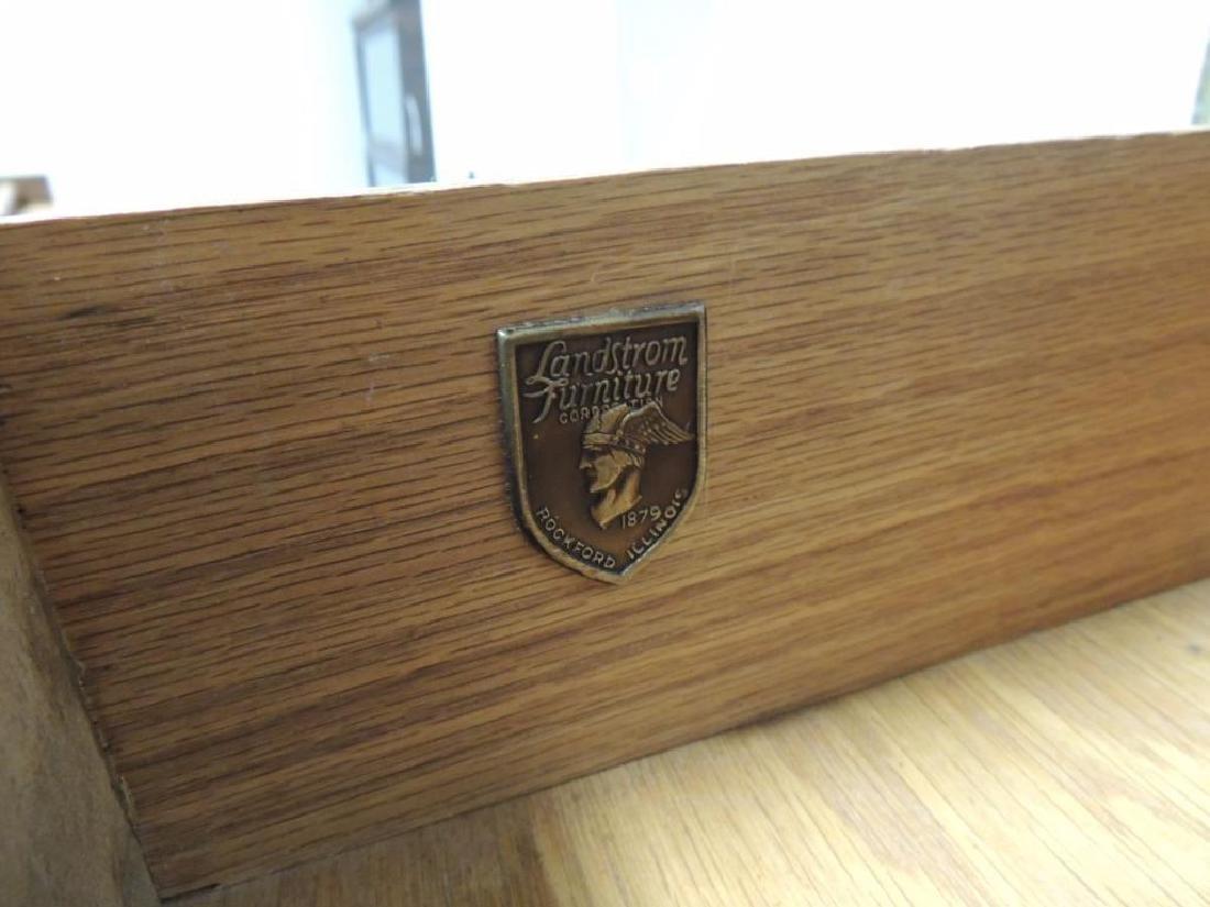 Vintage Landstrom Burled Walnut Dresser - 5