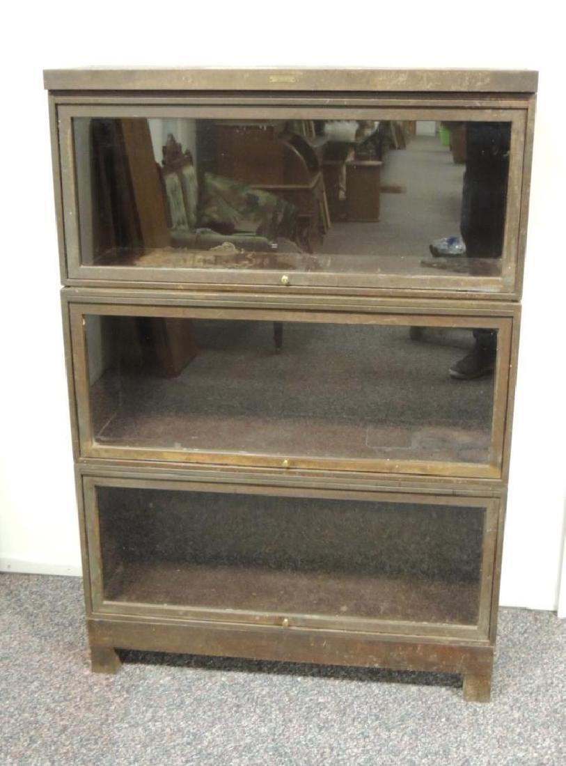 Vintage Steelcase Industrial 3 Stack Glass Door - 2