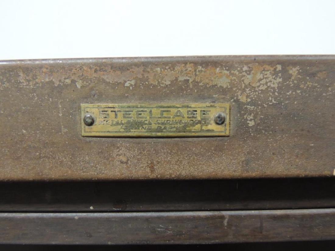 Vintage Steelcase Industrial 3 Stack Glass Door - 3