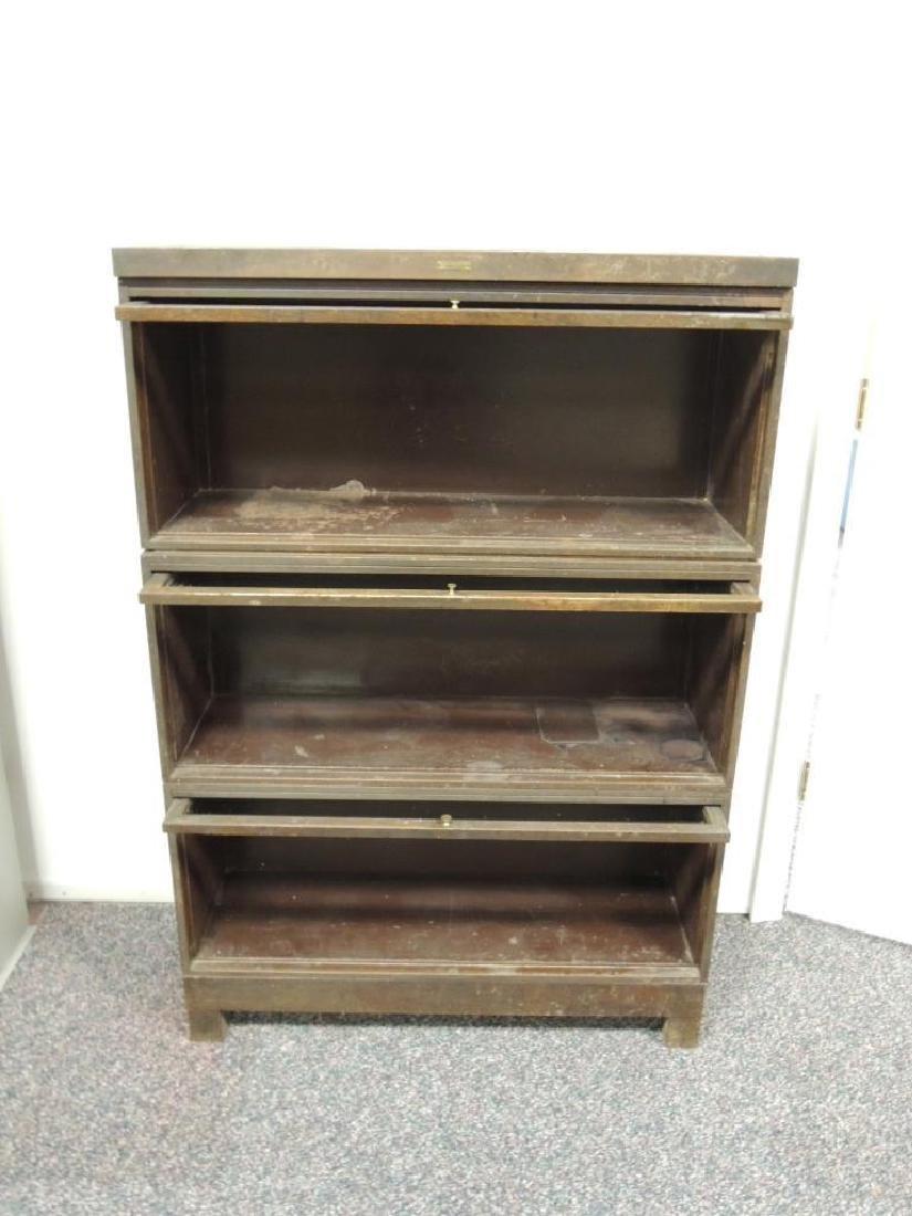 Vintage Steelcase Industrial 3 Stack Glass Door - 4