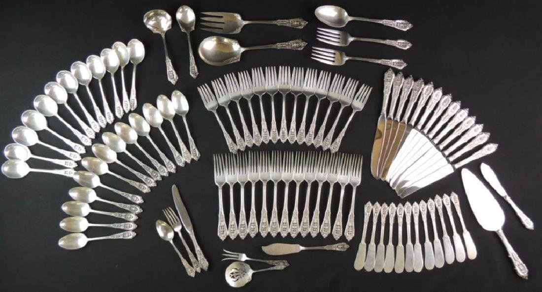 Wallace Sterling Silver Flatware (Rose Point) - 90
