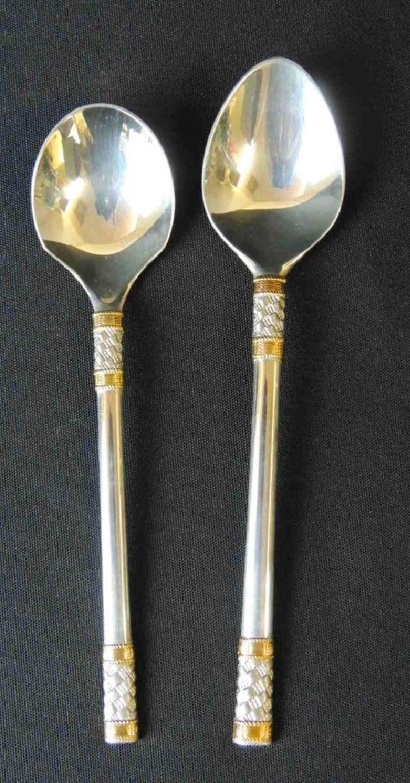 Wallace Sterling Silver Flatware (Golden Agean Weave) - - 3