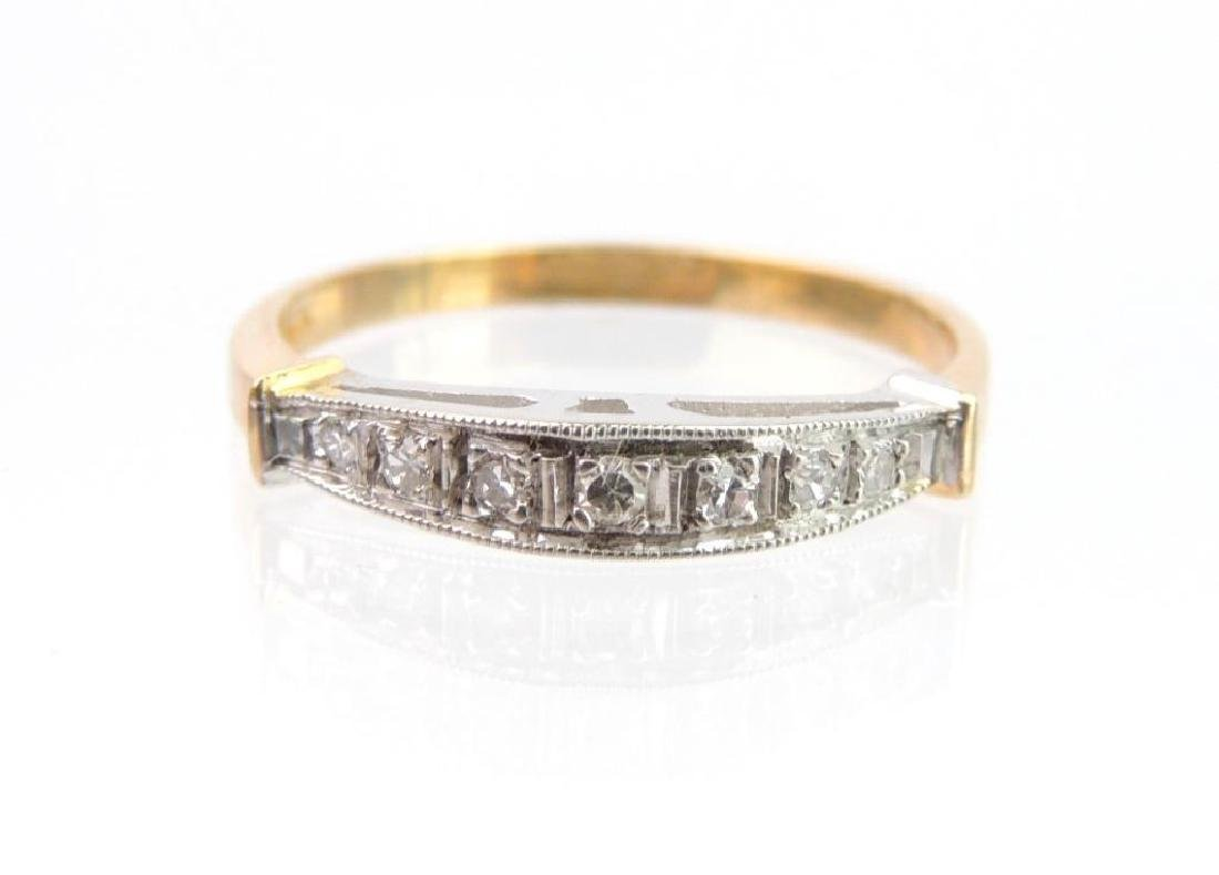 14k White and Yellow Gold Diamond Band