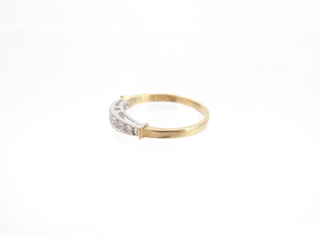 14k White and Yellow Gold Diamond Band - 2