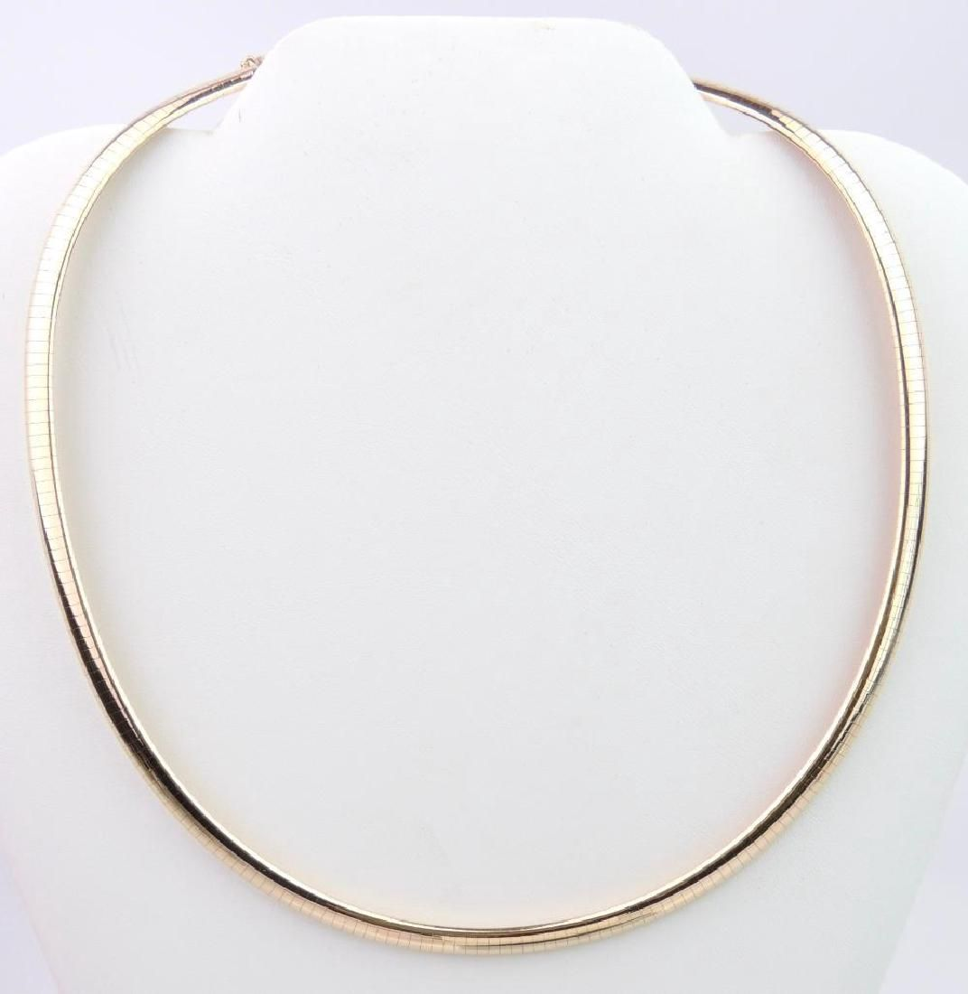 14k Yellow Gold Snake Chain Necklace w/Extension