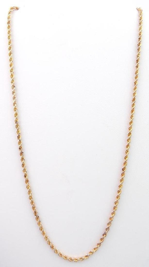 18k Yellow Gold Rope Chain