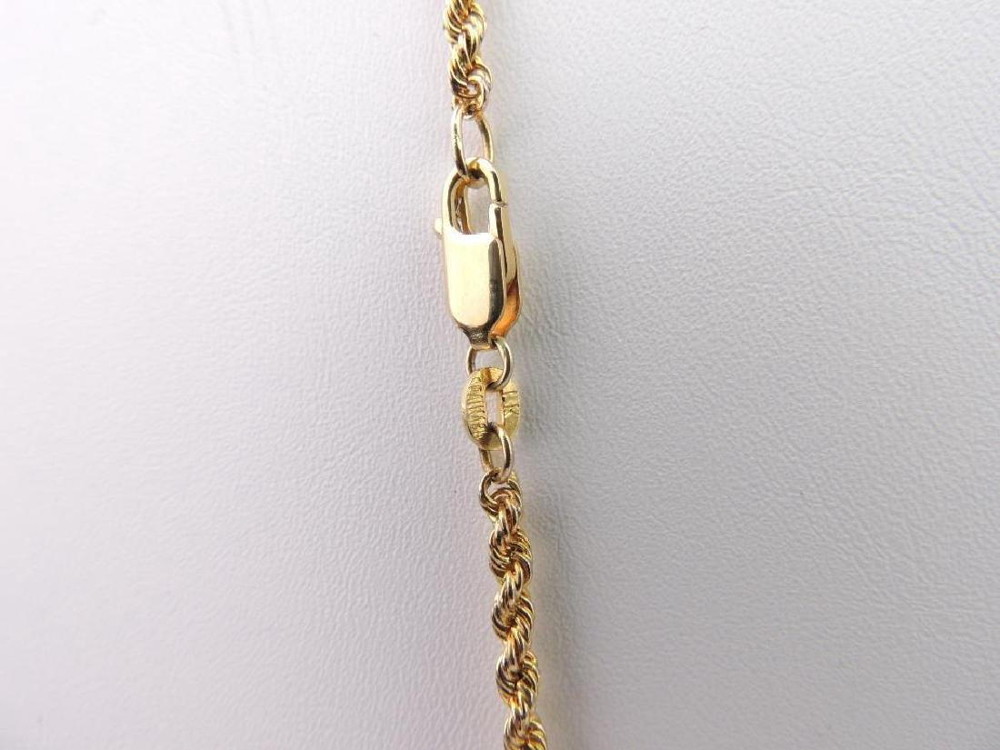 18k Yellow Gold Rope Chain - 3