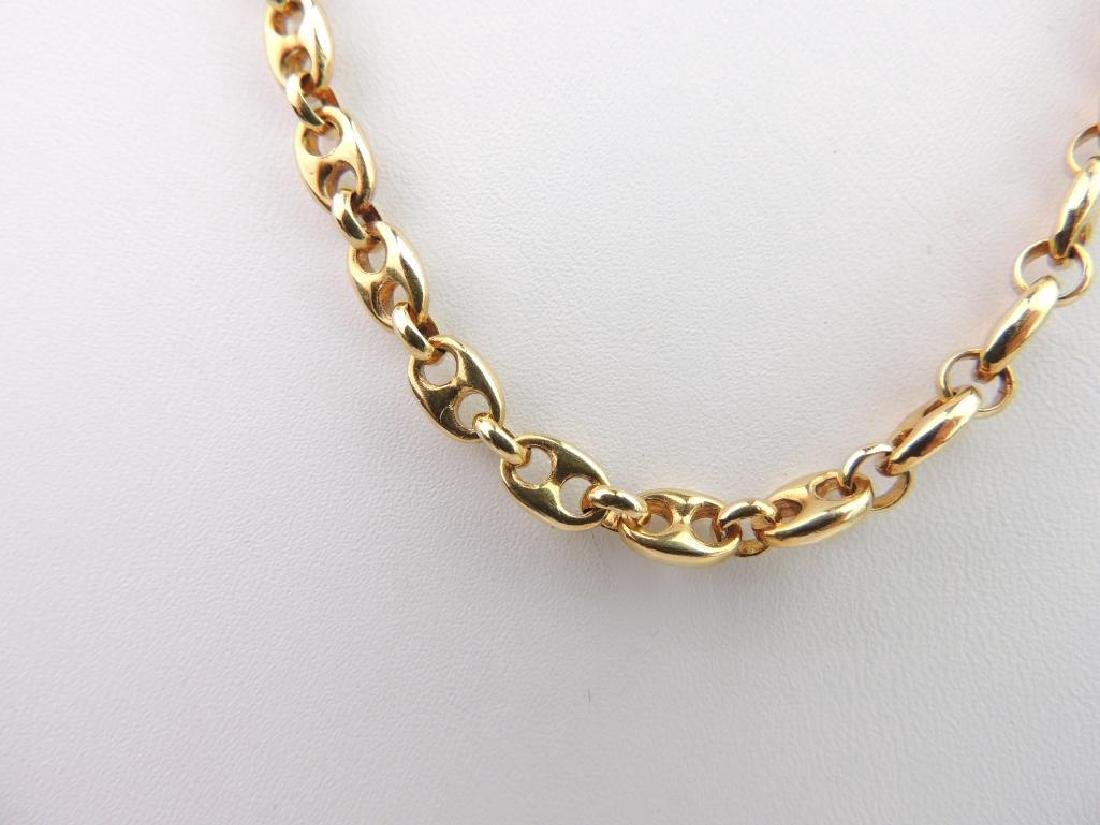 18k Yellow Gold Anchor Link Chain Necklace - 2