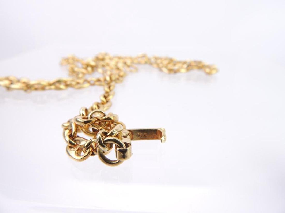 18k Yellow Gold Anchor Link Chain Necklace - 3