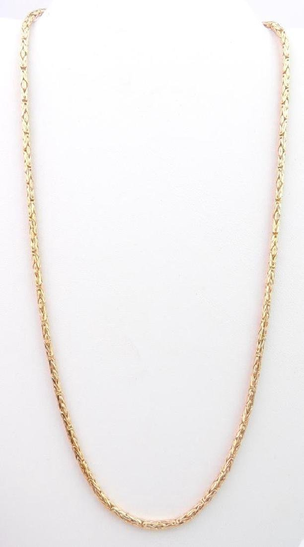 14k Yellow Gold Spiga Chain Necklace