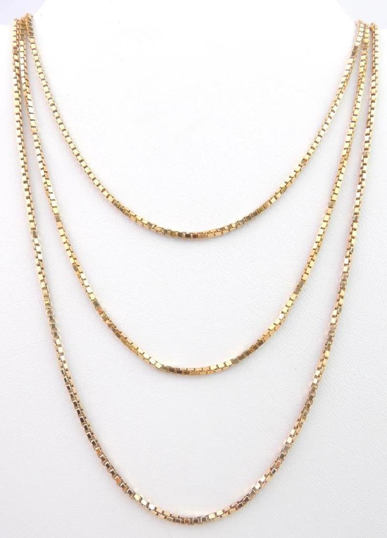 18k Yellow Gold Box Chain Necklace