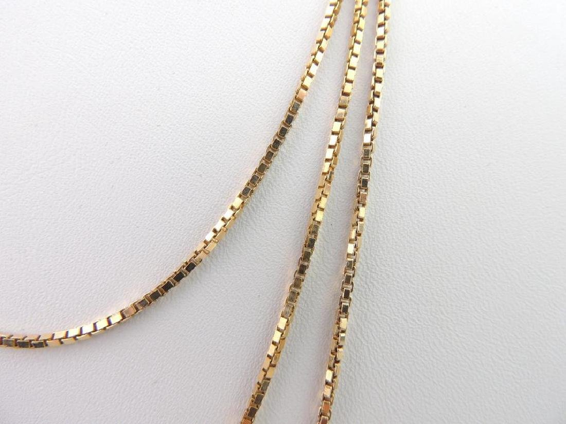 18k Yellow Gold Box Chain Necklace - 2