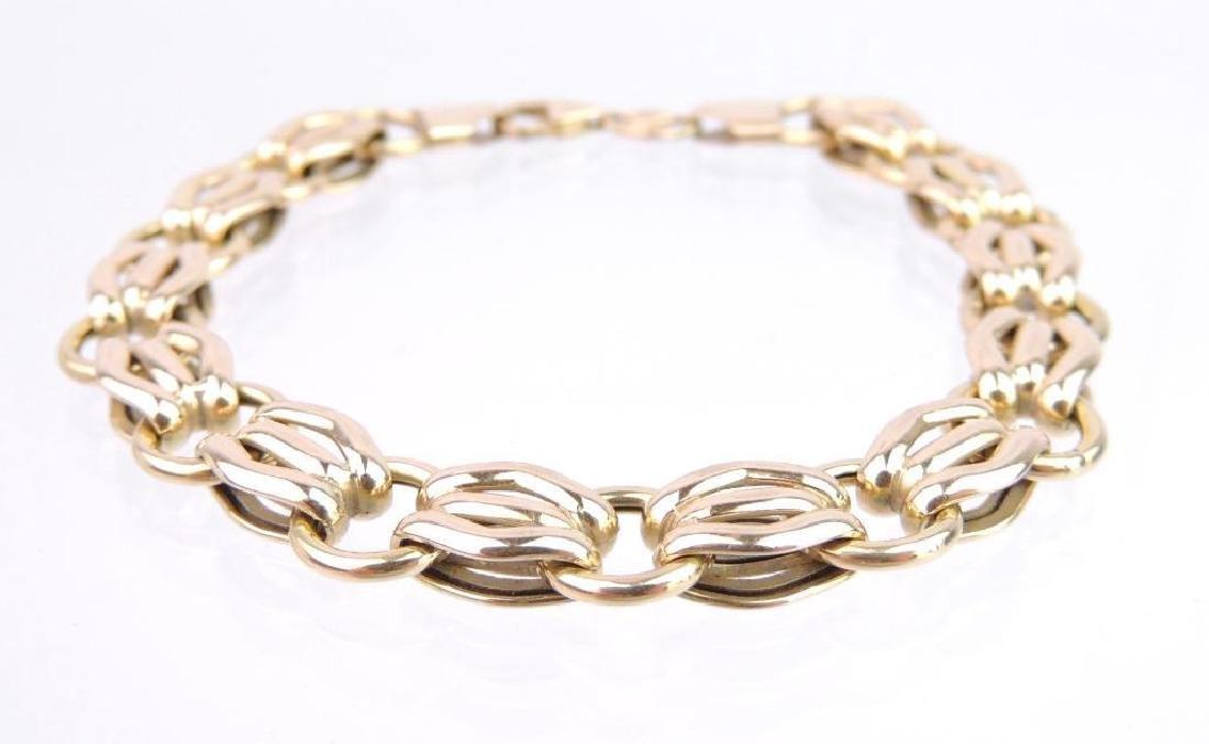 14k Yellow Gold Triple Rolo Link Bracelet