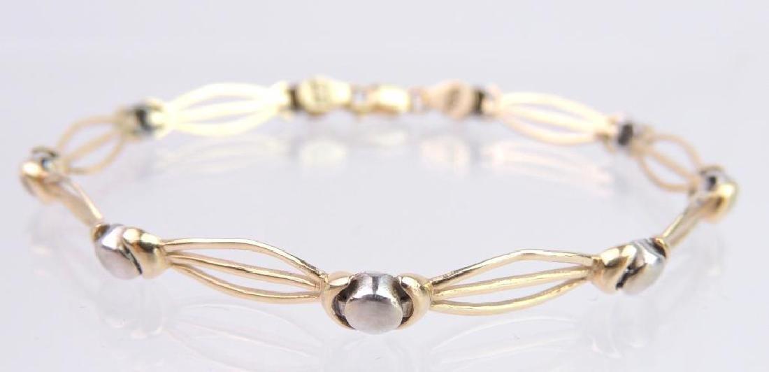 14k Yellow/White Gold Link Bracelet