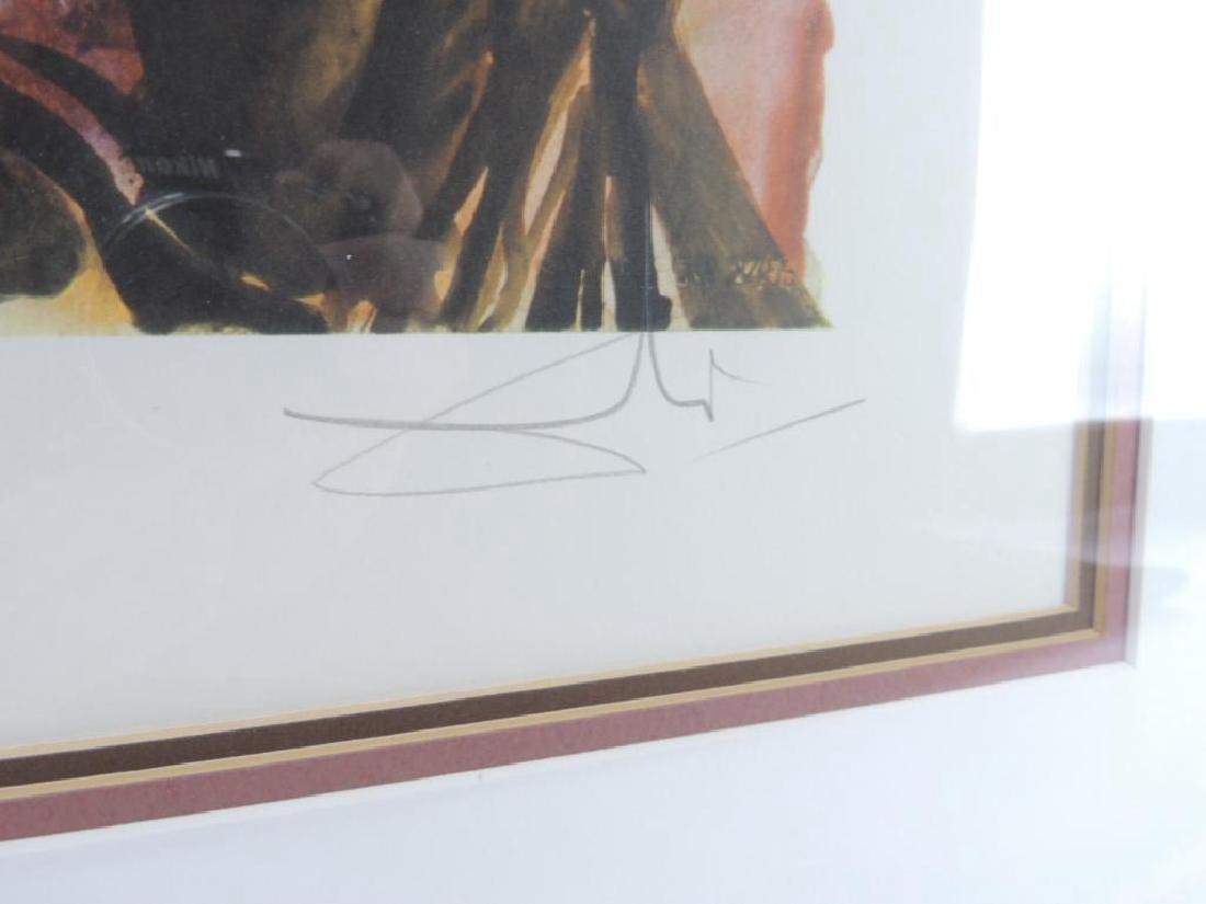 """Signed """"Gala"""" by Salvador Dali Original Artwork with - 3"""