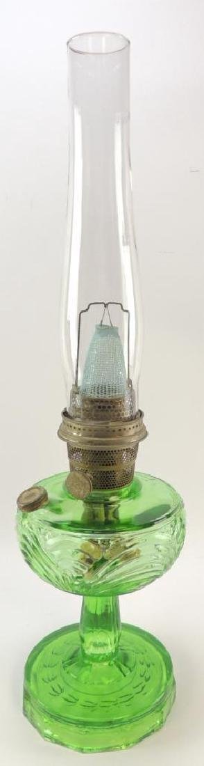 Antique Aladdin Emerald Green Oil Lamp