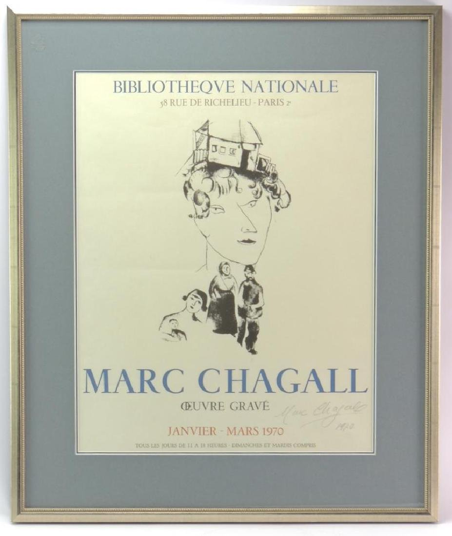 Marc Chagall Framed Art Show Poster - Signed by the