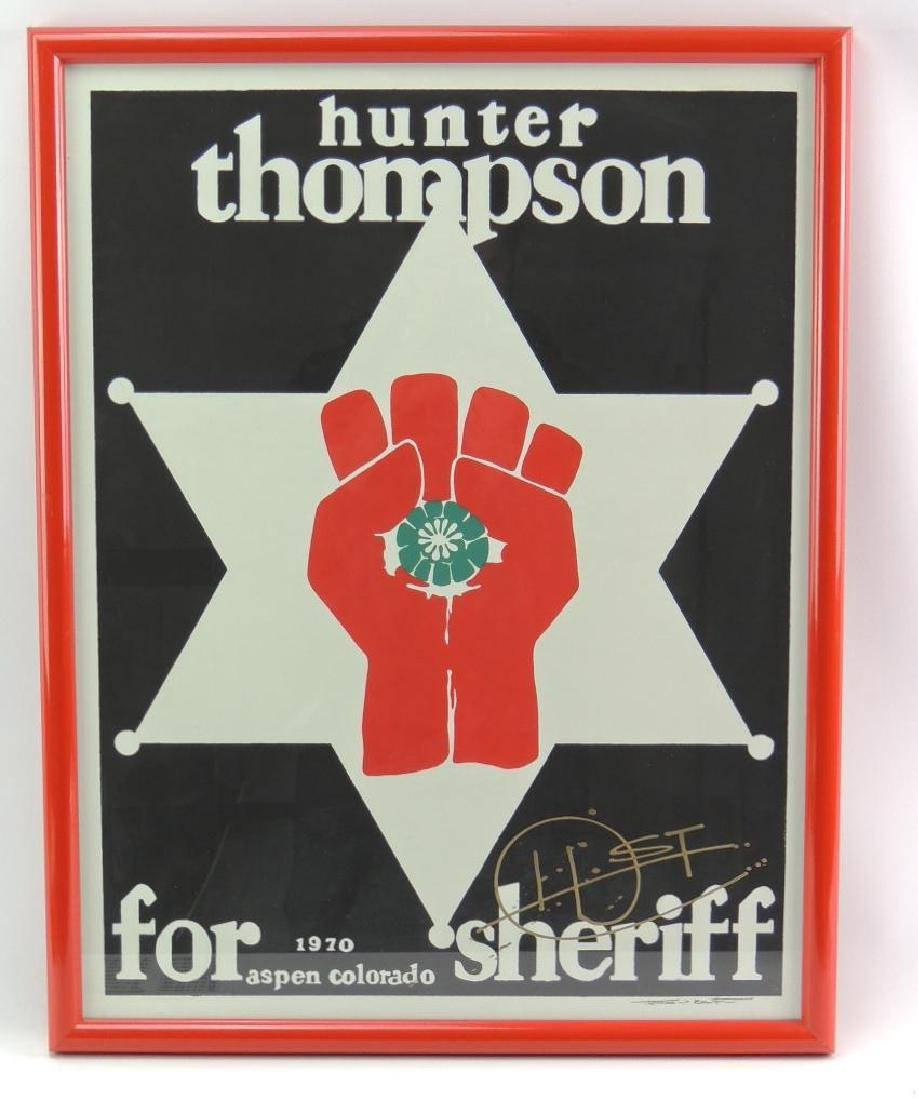 Signed Hunter S. Thompson for Aspen Colorado Sheriff