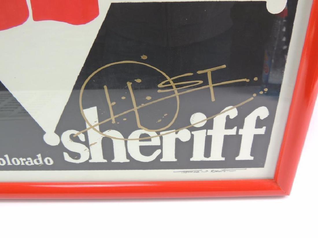 Signed Hunter S. Thompson for Aspen Colorado Sheriff - 2