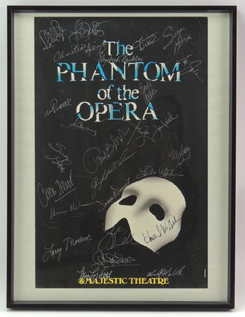 The Phantom of the Opera 1988 Poster Signed by the Cast