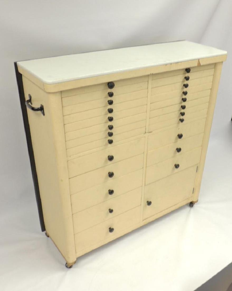 Vintage Dental Cabinet with Milk glass Top - 5