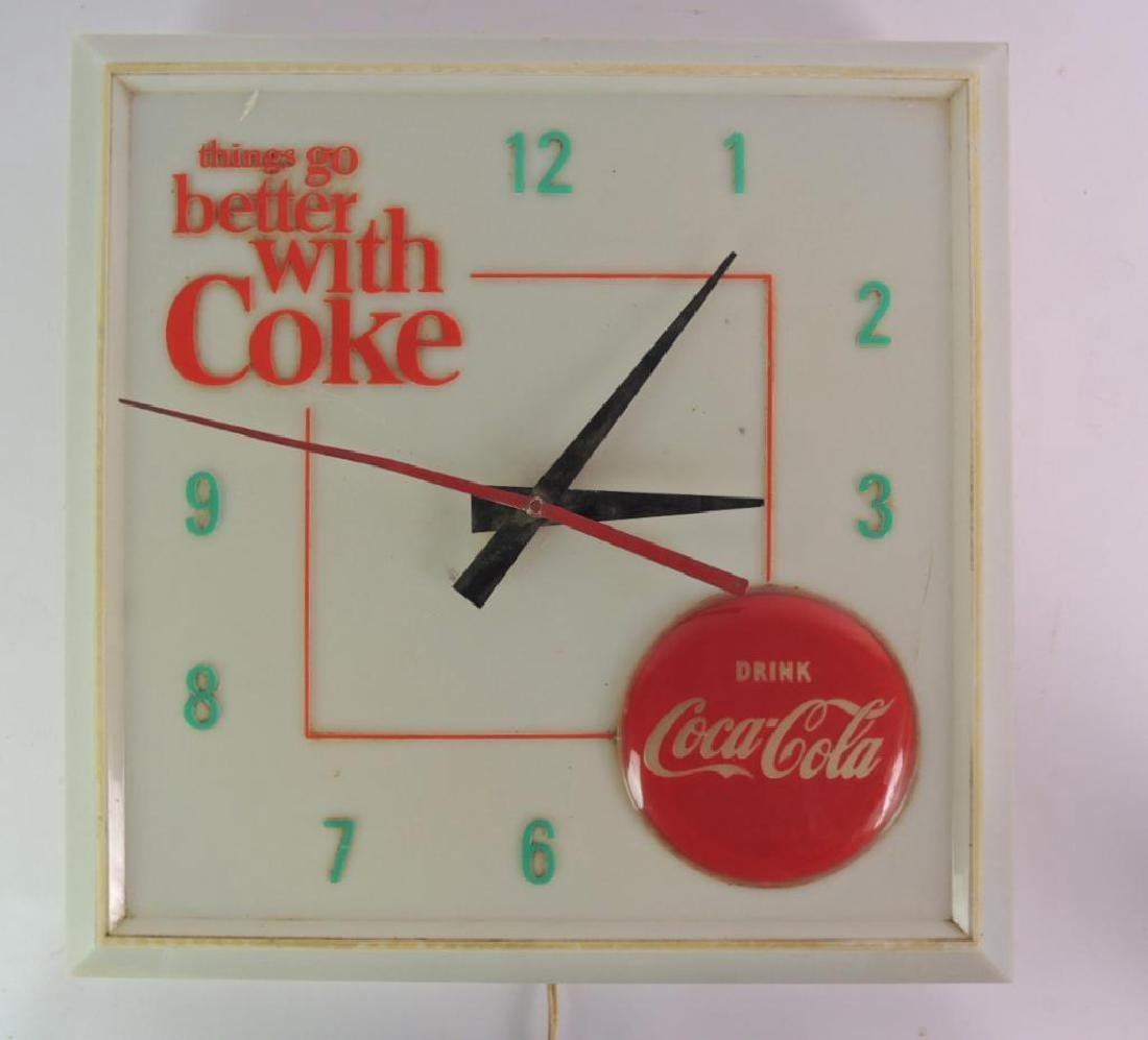 Vintage Coca-Cola Advertising Light Up Clock